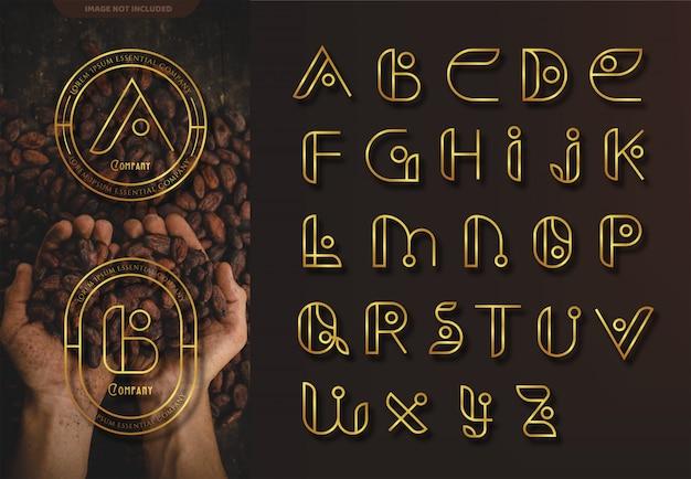 Retro alfabetten logo set