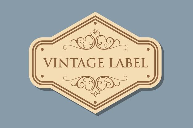 Retro ambachtelijke label