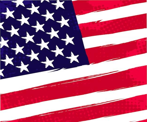 Retro amerikaanse vlag