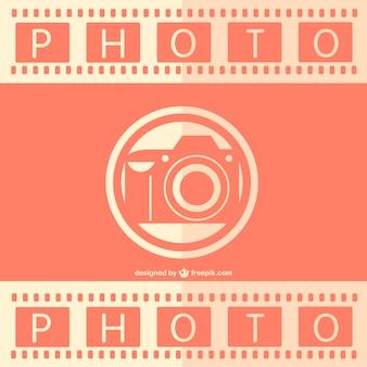 Retro analoge fotografie vector sjabloon