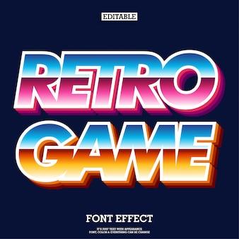 Retro arcade game lettertype voor merklogotype