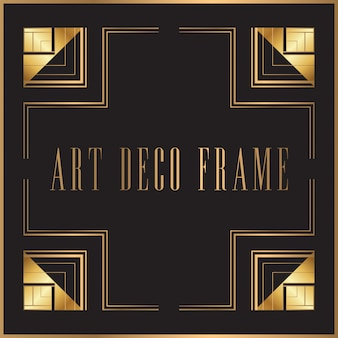 Retro art deco frame design