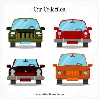 Retro auto's in plat design