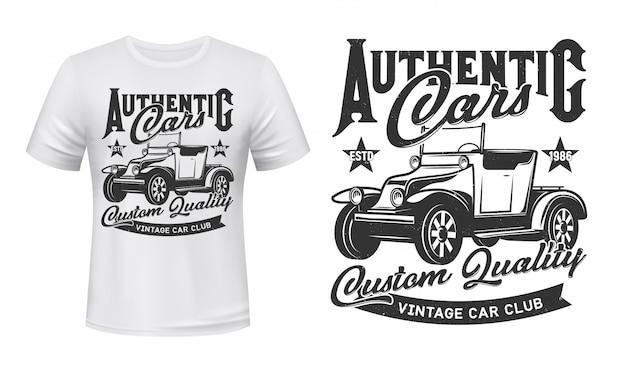 Retro auto's, vintage voertuigen club print