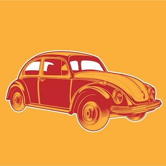 Retro auto ter illustratie