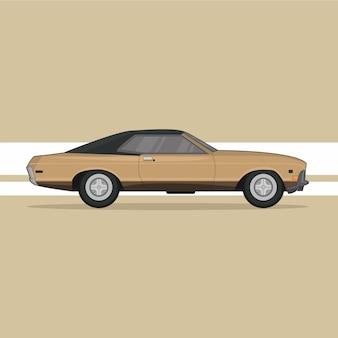 Retro auto vectorillustratie