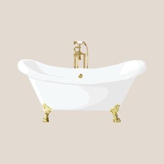 Retro badkuip met pootjes.