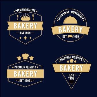 Retro bakkerij logo pack