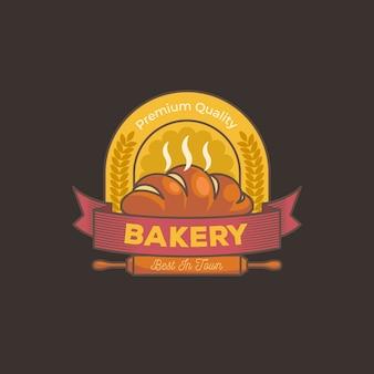 Retro bakkerij-logo