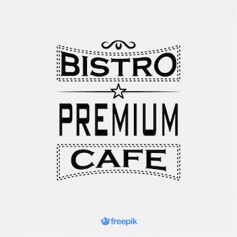 Retro banner premie cafe