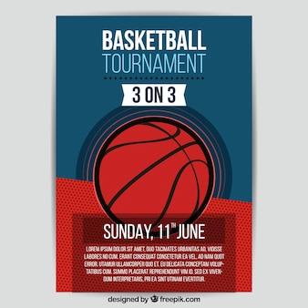 Retro basketbaltoernooi brochure