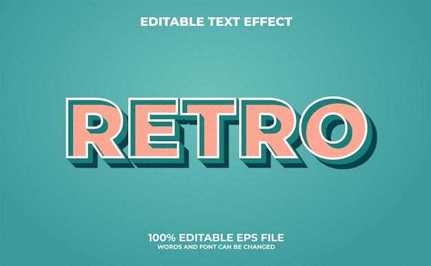Retro bewerkbaar teksteffect met moderne en abstracte stijl premium vector