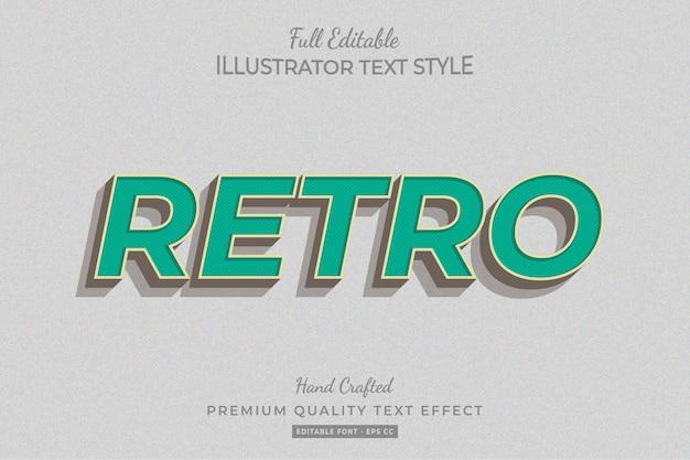 Retro bewerkbare 3d-tekststijl effect premium