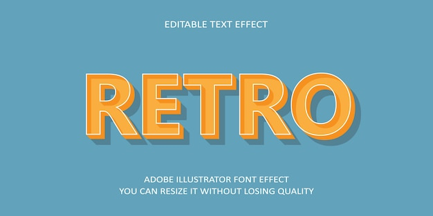 Retro bewerkbare tekst lettertype effect