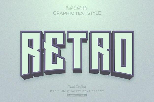 Retro bewerkbare teksteffect lettertypestijl