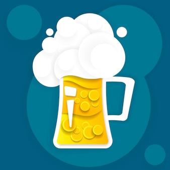 Retro bier vector poster. vintage advertentiesjabloon voor koud bier. vector illustratie.