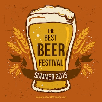 Retro bierfestival poster