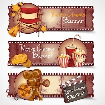 Retro bioscoop banners
