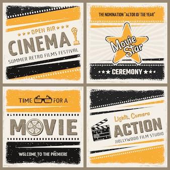 Retro bioscoop posters instellen