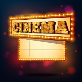 Retro bioscoopteken