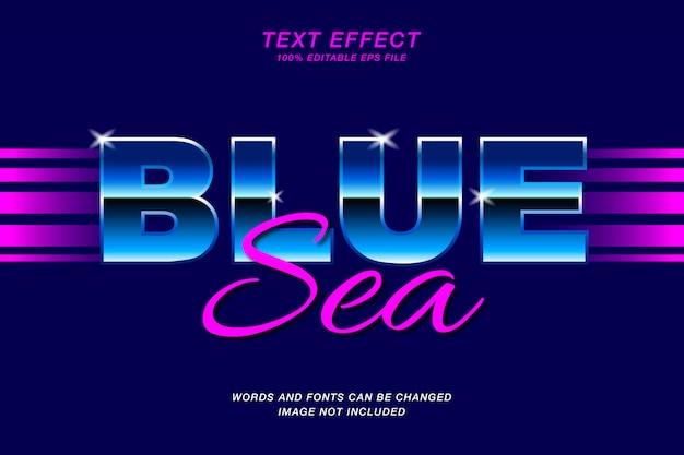 Retro blauw teksteffect