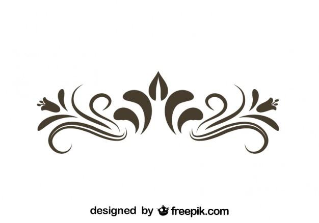 Retro bloemen decoratief grafisch element