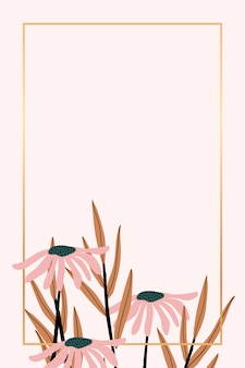 Retro bloemenframe