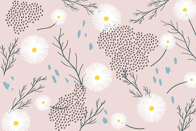 Retro bloemenpatroon