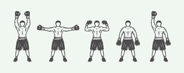 Retro boksers set