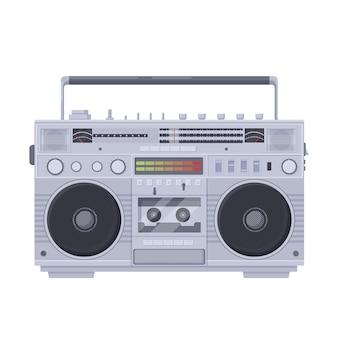 Retro boombox cassette. oude draagbare single cassette recorder sharpe.
