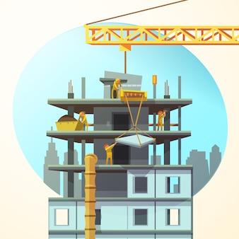 Retro bouwbeeldverhaal