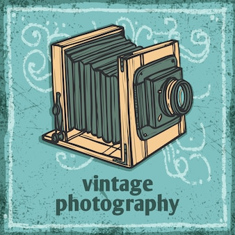 Retro camera illustratie