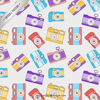 Retro camera patroon