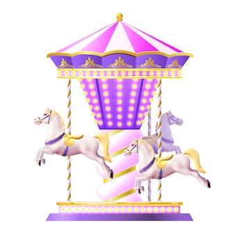 Retro carrousel illustratie