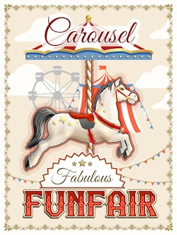Retro carrousel poster