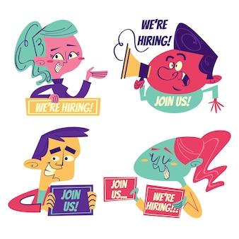 Retro cartoon huurstickers