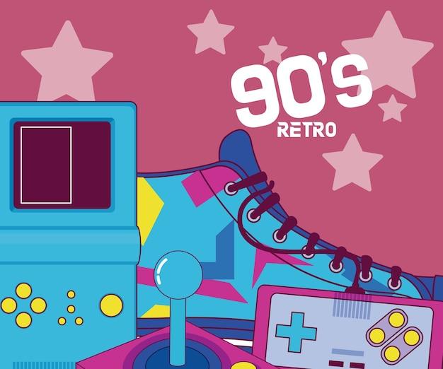 Retro cartoons uit de jaren 90