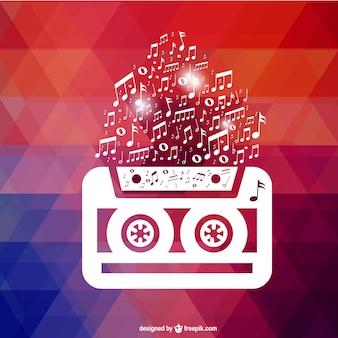 Retro cassette behang