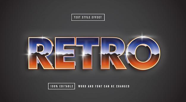 Retro chrome-teksteffect bewerkbaar