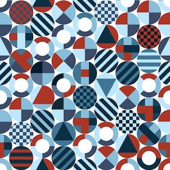 Retro cirkels met geometrische vormen
