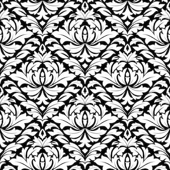 Retro damast naadloos patroon