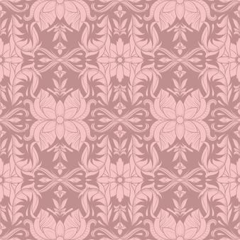 Retro decoratieve naadloze bloemmotief, vintage.