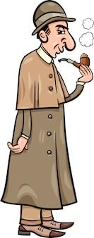 Retro detective cartoon afbeelding