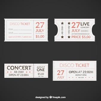 Retro disco ticket