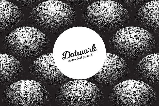 Retro dotwork-textuur stippelde 3d-abstracte achtergrond