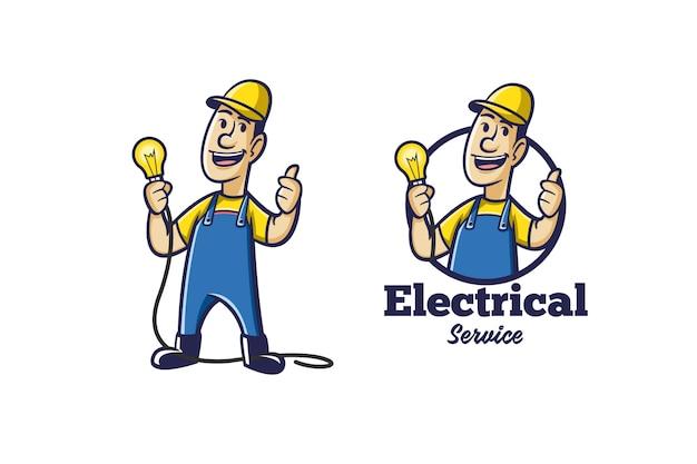 Retro elektrische logo