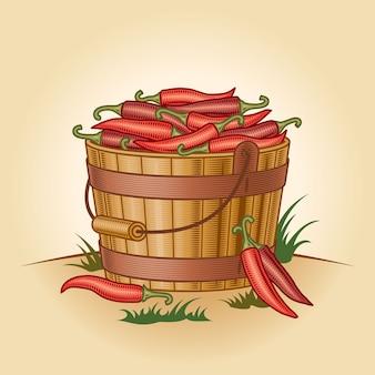 Retro emmer chili pepers