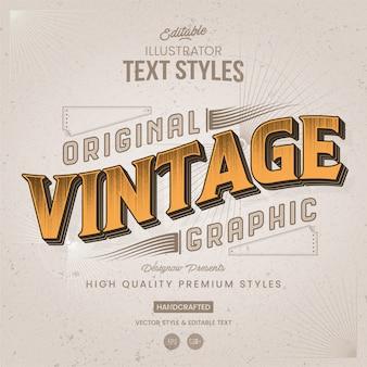 Retro en vintage-tekststijl