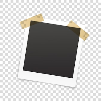 Retro fotolijst geïsoleerd op transparante achtergrond