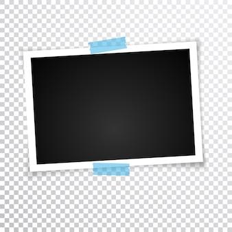 Retro fotolijst met schaduwen. illustratie.